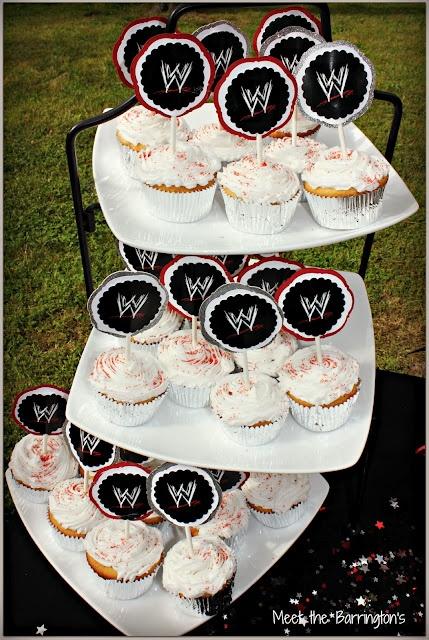 #WWE Cupcake Tier