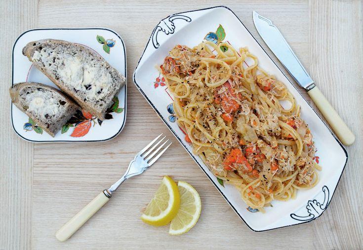 Crab & Fennel Linguine | Healthy | Pinterest
