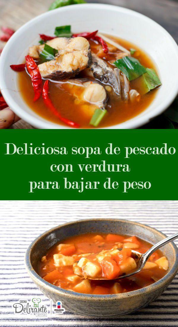 sopa de pescado para perder peso