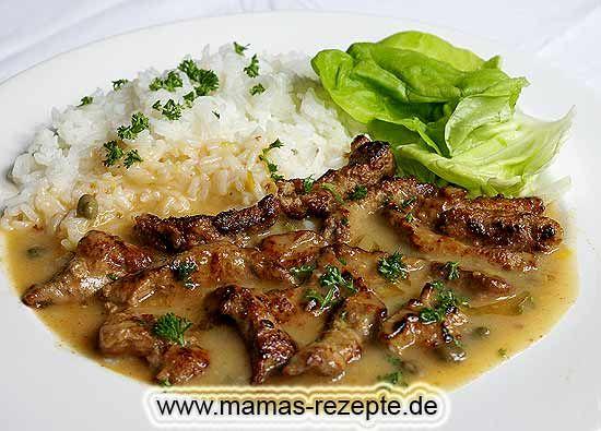 Rezept Kalbsleber in Kapernsoße auf Mamas Rezepte Homepage