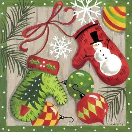 Merry Mittens-Ornaments by Jennifer Brinley | Ruth Levison Design
