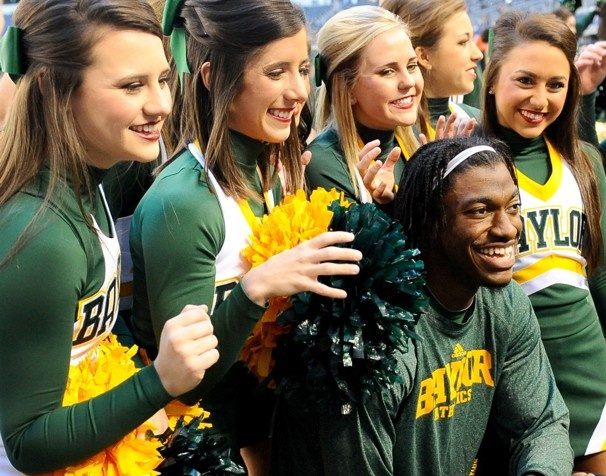 """Robert Griffin III's triumphant return to Texas & his support for Baylor vs Texas Tech 11/24/2012- Read the entire brilliant article """"Robert Griffin III's triumphant return to Texas"""" & grab a tissue. washingtonpost.com"""