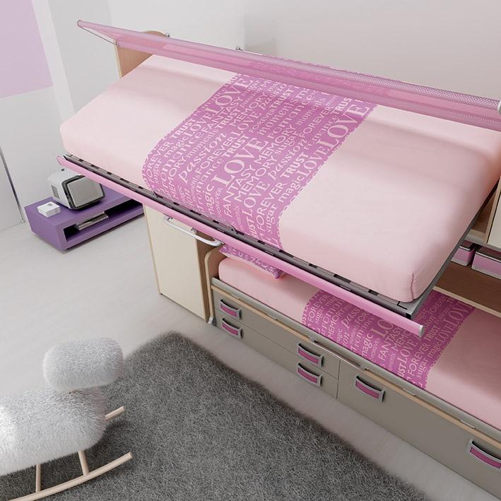 """#Arredamento #Cameretta Moretti Compact: Collezione 2012 """"Team"""" > Kids – Soluzione a #Soppalco >> ks20 #letti #cassetti http://www.moretticompact.it/kids.htm"""