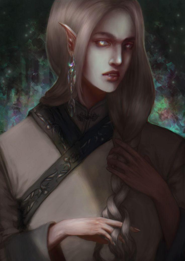 Vampire, Anna Nikitina on ArtStation at https://www.artstation.com/artwork/BO1Dl