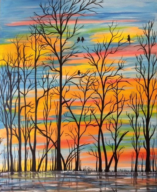 Paint Nite. Winter's Beauty