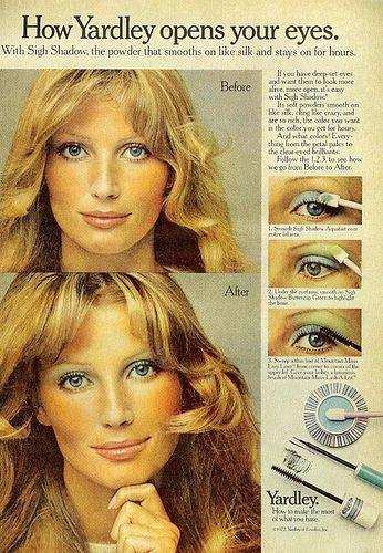 Sminktips på 70-talet! Tänk på att välja ekologiskt smink med omtanke om människor och miljö. [70's make up, use organic make up.] #wedding #bröllop #ecobride