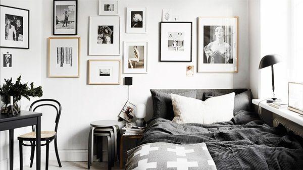 Inspirasi Desain Kamar Tidur Nuansa Hitam Putih