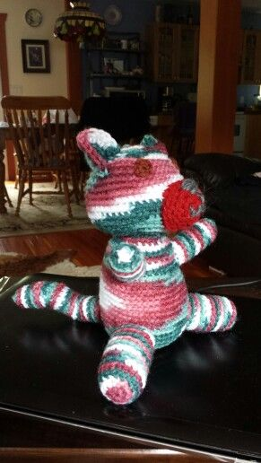 First attempt at my own pattern! Meet Patches the cat :)