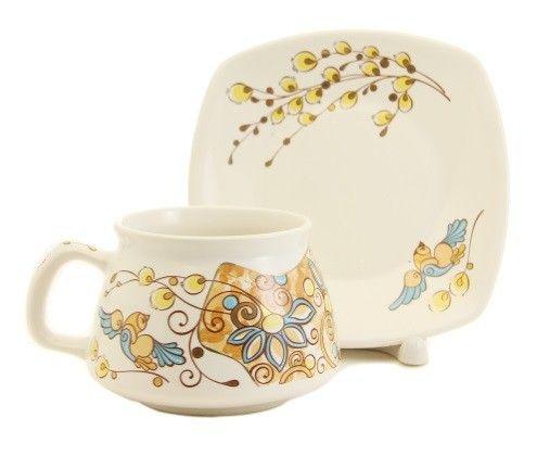 Scenes from Nature Cup & Saucer Set, Order here: http://catalog.obitel-minsk.com/handmade-ceramics/ceramic-tableware.html?ceramics_type=553 #christmastime #xmas #giftideas #gift #souvenir #present #ceramic #clay #handmade #teaset #home #tea #warmly #cup #saucer #pottery