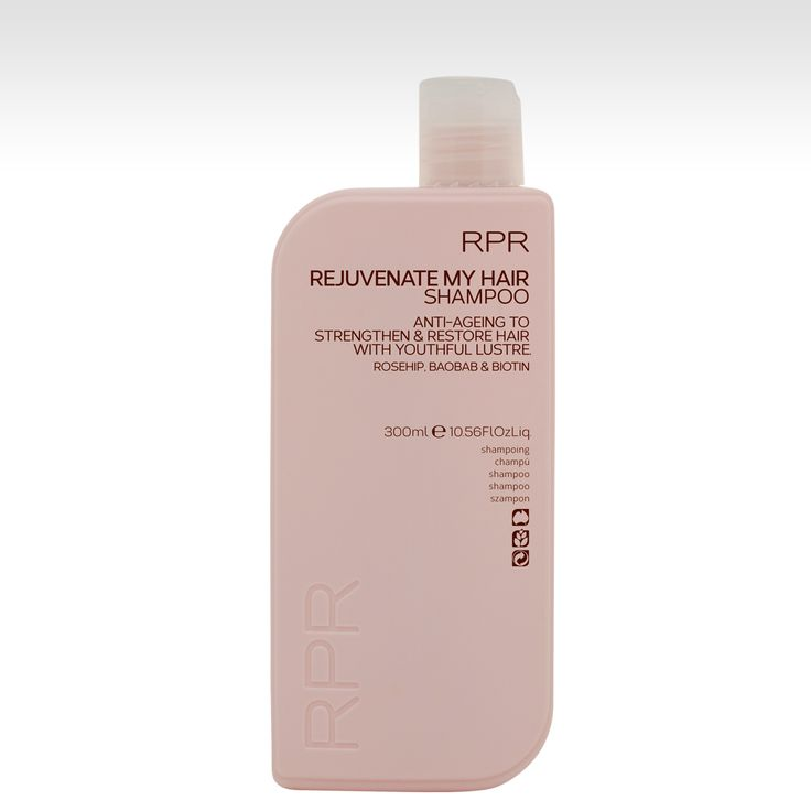 RPR REJUVENATE MY HAIR Shampoo. Anti-ageig to strengthen and restore with youthful lustre. Reshape, Baobab & Biotin. www.rprhaircare.com.au