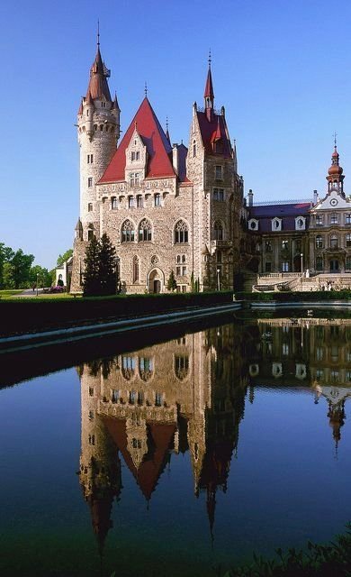 Moszna castle in morning light, Poland | by radimersky