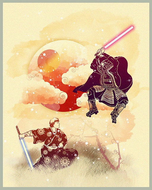 Samurai Wars (Actually, George Lucas & Star Wars owes a large debt to Akiro Kurosawa's films and Japanese imagery)
