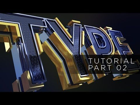 01 - TUTORIAL TYPE TEXT - SPLINE LINES - CINEMA 4D AND AFTER