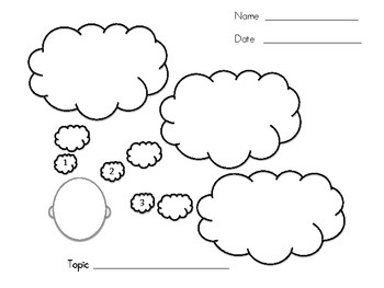 3 Cute Graphic Organizers: Lined and Blank. Great for
