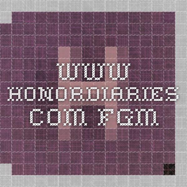 www.honordiaries.com FGM