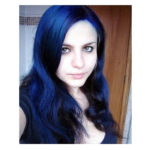 manic panic after midnight blue over black hair - Google Search