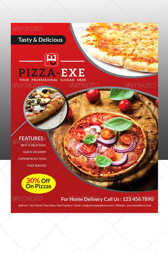 #Pizza Store Flyer - #Flyers Print Templates Download here: https://graphicriver.net/item/pizza-store-flyer/6787415?ref=alena994