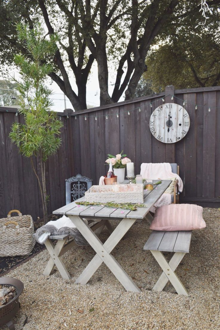 Have you thought about hosting an outdoor cocktail party? If the temps are cool, add in furry blankets and cozy pillows for warmth.  Available at HomeGoods, Sponsored Pin.