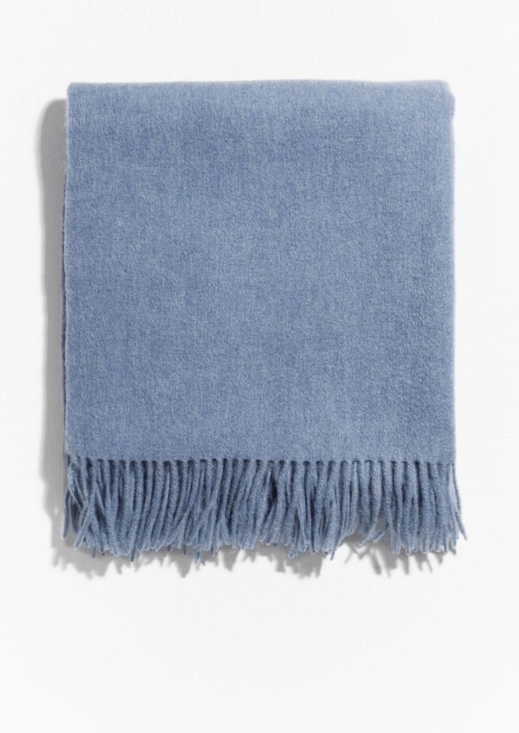 & Other Stories image 1 of Oversized Wool Scarf in Blue