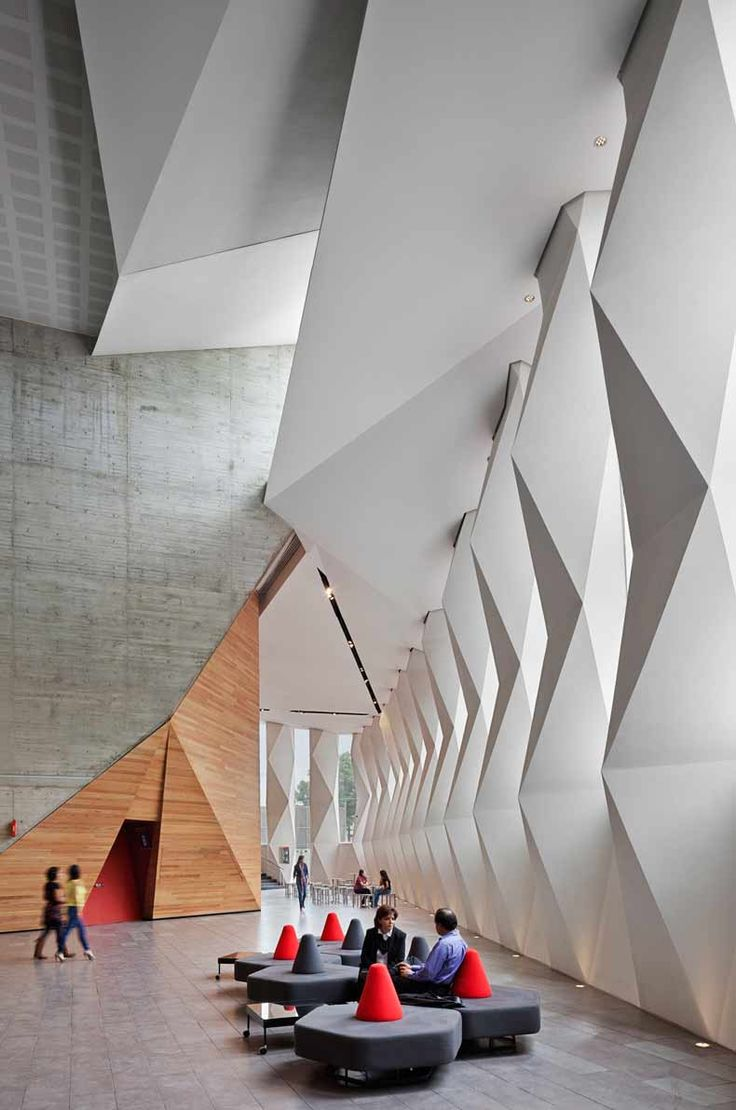 Lobby design of Roberto Cantoral Cultural Center