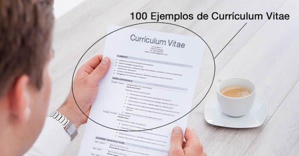 Descarga ejemplos de Currículum Vítae en formato Word y PDF, y aprende a mejorar tu currículum vitae a través de nuestros ejemplos de CV.
