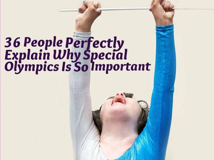 36 People Perfectly Explain Why Special Olympics Is So Important