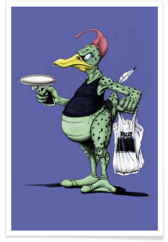 Space duck (colored) - Rob Snow | Creative - Premium Poster art | decor | wall art | inspiration | animal | home decor | ideas | gift