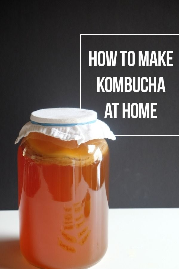 If you've ever wondered how to make your own kombucha, I wrote a whole post about the process. Check it out: