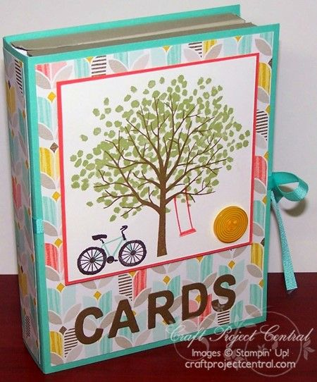 Stampin' Up! Sheltering Tree - Book Box Card Set - Craft Project Central - Create With Christy - Christy Fulk, Stampin' Up! Demo