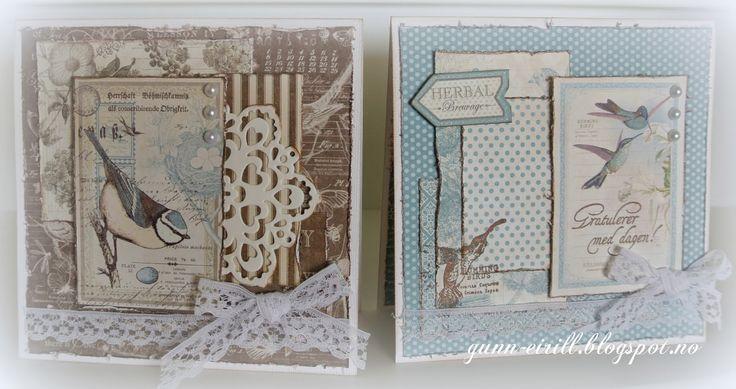 Perfekte kort for Graphic 45 ark fra Scrapomania: Søte kort