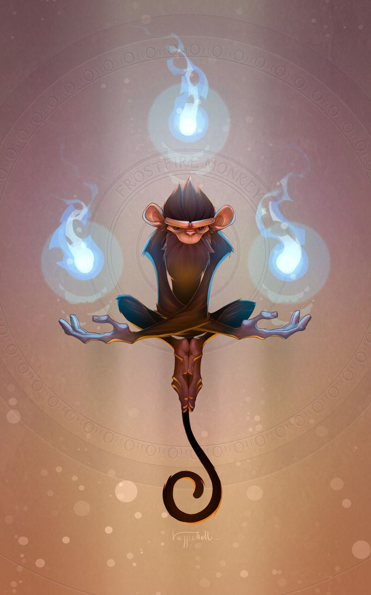 Frostfire Monkey by pierdrago