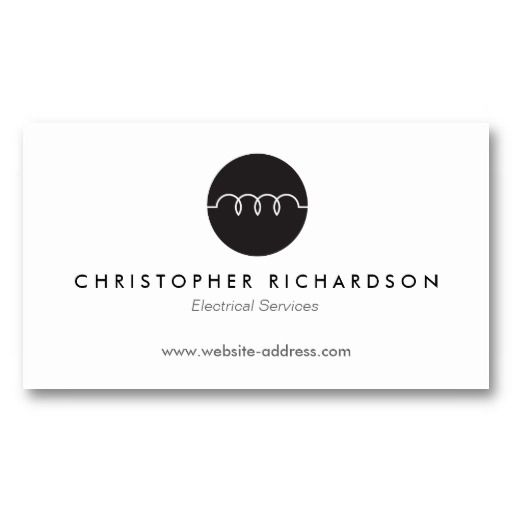 MODERN BUSINESS CARD FOR ELECTRICIANS, ELECTRICAL