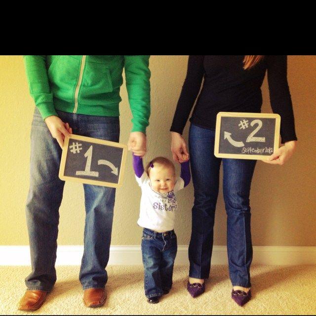 formas criativas de anunciar a segunda gravidez