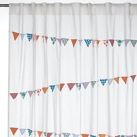 Buy John Lewis Bunting Voile Panel, Multi Online at johnlewis.com £20-30