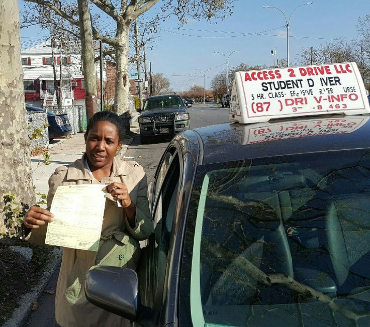 Good news!  Ophelia of #brooklyn #newyork.  Took our 11 #lesson package.  Now she is a #licensed #driver.  #acess2Drive #drivingschool #learntodrive #welovewhatwedo #teamaccess  Www.access2drive.com  Www.drivingschoolsbrooklyn.com