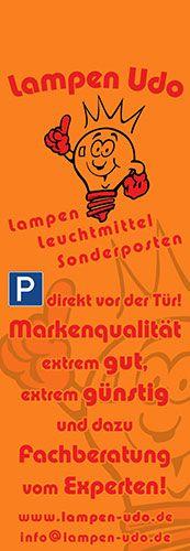 Lampen Udo Kleve - Abreiß-Flyer für eine Flyerwand