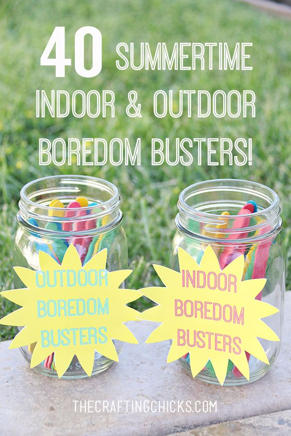 40 Indoor and Outdoor Summer Boredom Busters - My kids will love these activities!