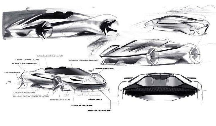 Ferrari J50 sketch