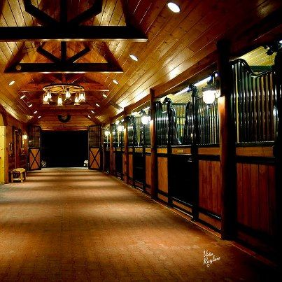 horses-are-my-therapy:  pure-country-girl:  I would die for a barn like this..  my barn has three stalls \m/