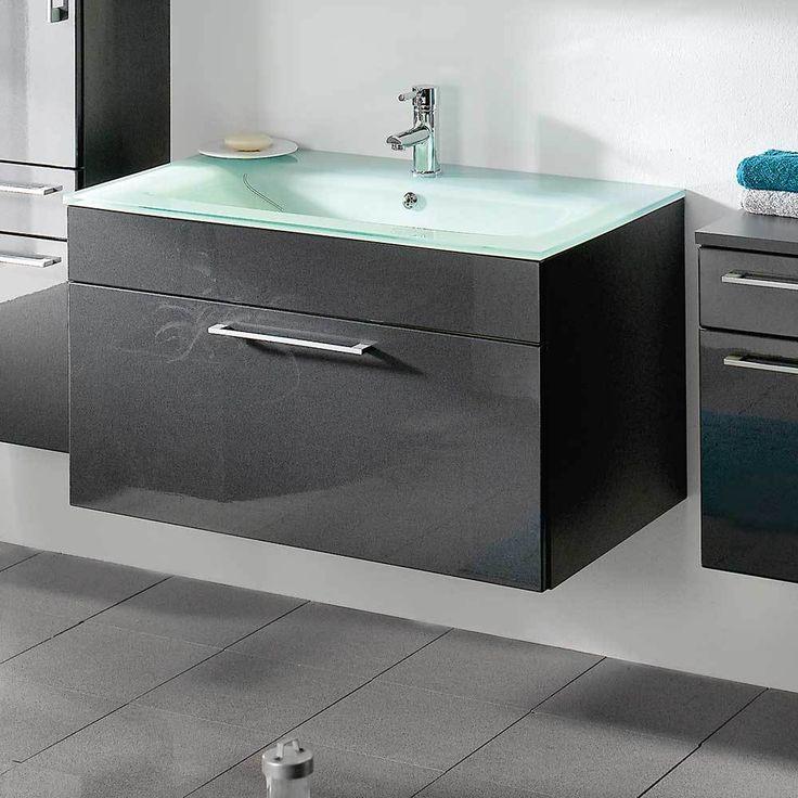 Luxury Bad Waschtisch in Anthrazit Hochglanz modern Jetzt bestellen unter