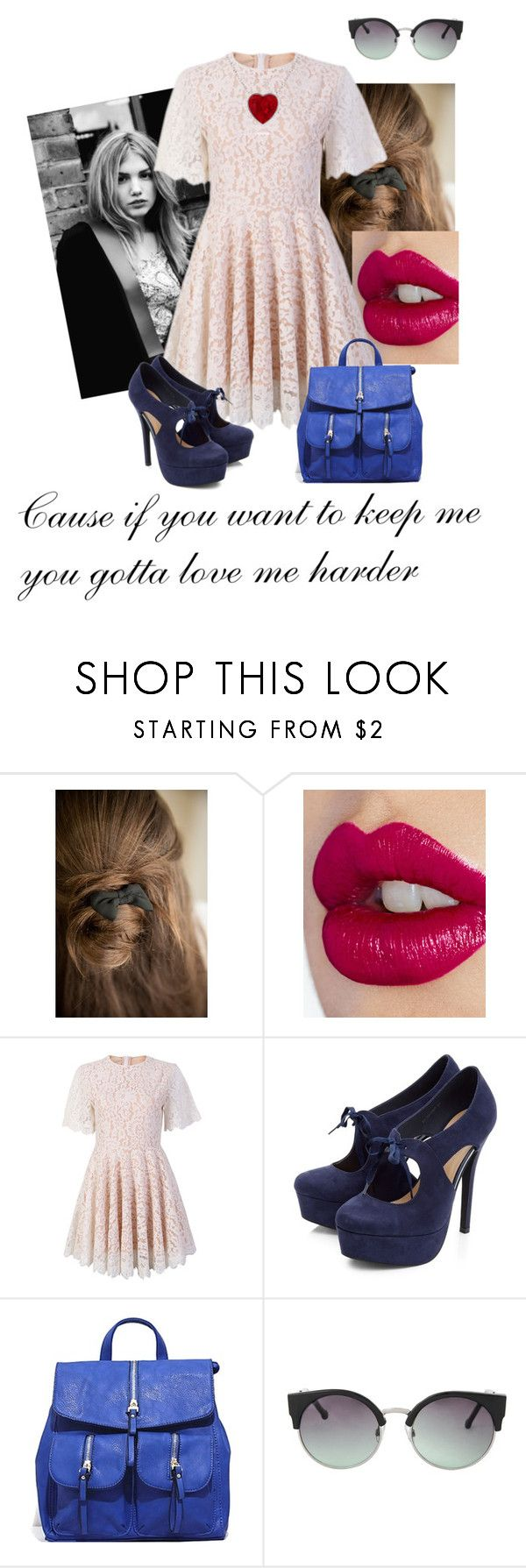 """Cassie Duchanne"" by lygia-soares ❤ liked on Polyvore featuring Charlotte Tilbury, FC Select Design, MANGO, women's clothing, women, female, woman, misses and juniors"