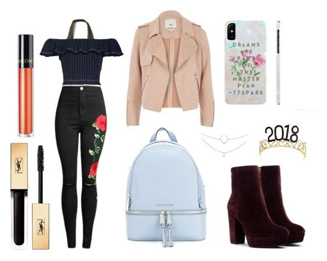 """New Years Eve Party"" by emily-l-hopkins on Polyvore featuring Hollister Co., T By Alexander Wang, River Island, MICHAEL Michael Kors, Yves Saint Laurent and Lancôme"
