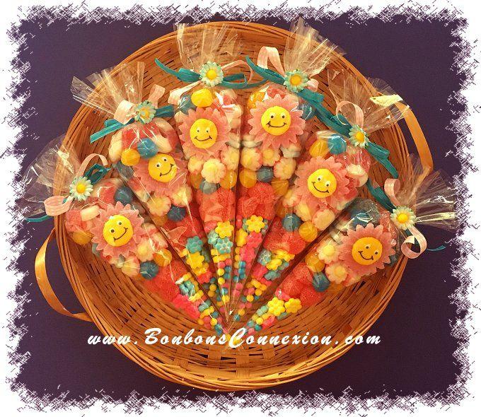 Sunny Candy Cones - Cornets de bonbons Ensolleillés