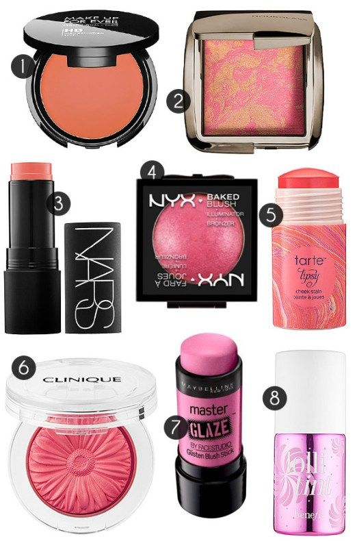 Best Blushes For Summerly Glowy Skin <31. Make Up For Ever HD Blush 2. Hourglass Ambient Lighting Blush 3. NARS Matte Multiple 4. NYX Baked Blush 5. Tarte Cheek Stain 6. Clinique Cheek Pop 7. Maybelline Face Studio Master Glaze Glisten Blush Stick in Pink Fever 8. Benefit Lollitint