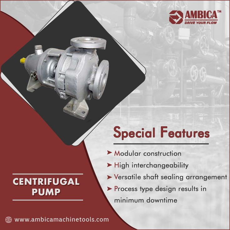 Centrifugal pump transfer the liquids with high efficiency over a wide range of flows and pressures. Select the best featured centrifugal pump from Ambica Machine Tools. http://www.ambicamachinetools.com/centrifugal-pump-manufacturer.htm  #CentrifugalPump #CentrifugalPumpSupplier #AmbicaMachineTools