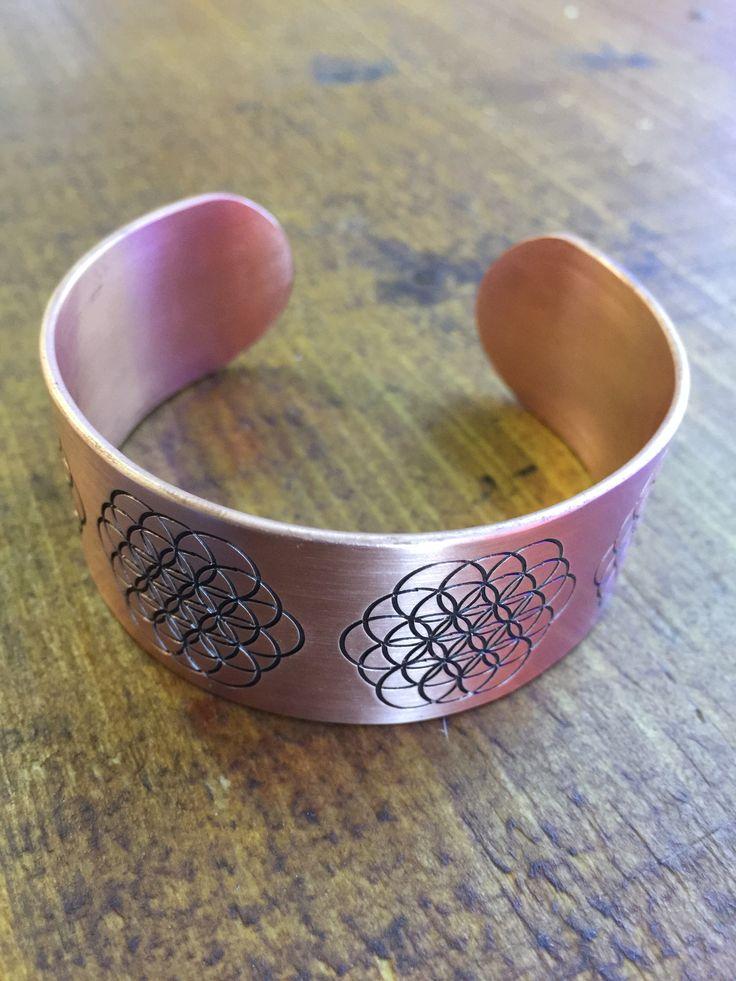 Bratara din cupru floarea vietii Copper bracelet