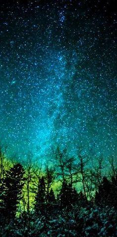 Milky Way, Cold Night in Bozeman, Montana