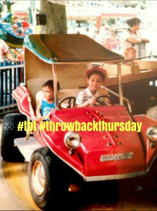 My first #throwbackthursday #tbt of my cousin and I. I'm the driver. Good times... Thanks cuz for finding this picture!  #memories #childhood #bff #friends #cousins #family #play #playtime #kids #followforfollow #likeforlike