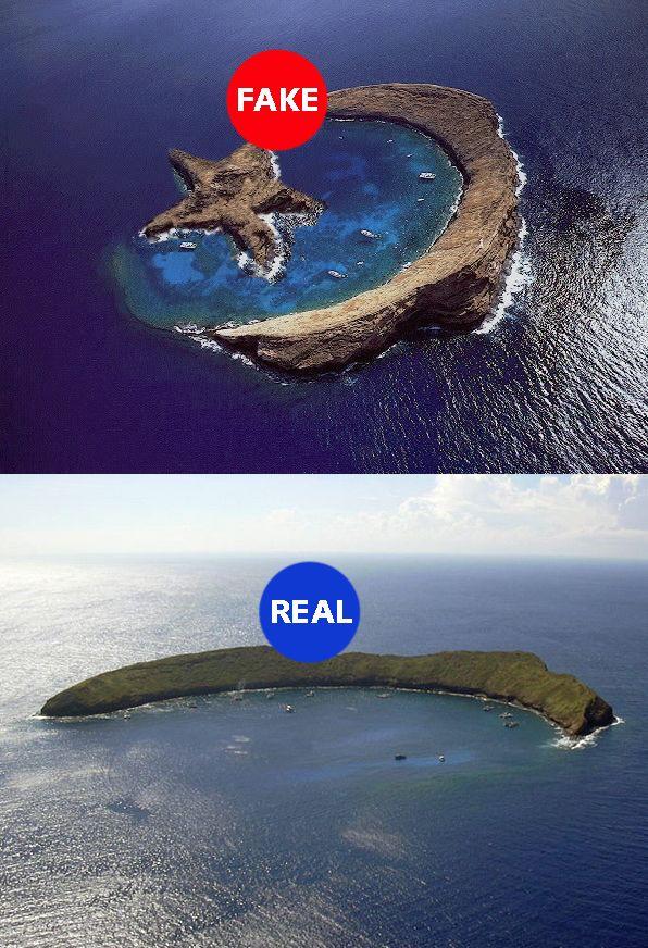 Star shaped island inside crescent moon shaped island? No ...