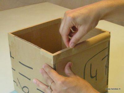 Un tuto cartonnage la bo te en carton avec couvercle - Tuto boite en carton ...